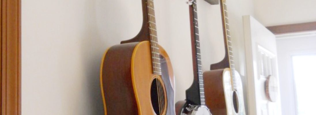 Make It Easy To Do Your Thing Diy Guitar Hanger Dancing
